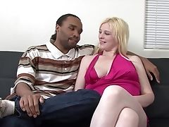 Big Tits, Black, Blonde, Couple, Handjob, Hardcore, Interracial, Natural Tits, White,