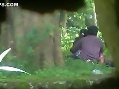 Paar, Versteckte Kamera, Indisch, Im Park,