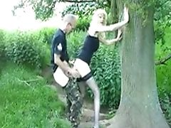 In Het Bos, Outdoor, Mager, Slut, Kousen,