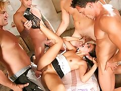 Allie Haze, Topless, Morena, Facial, Gangbang, Adolescente,