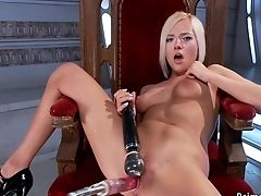 Blonde, British, Dildo, Fetish, Fucking, Hardcore, Insertion, Katie Morgan, Masturbation, Riding,