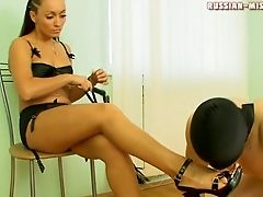 Ballbusting, Femdom, Fetish, Foot Fetish, High Heels, Russian, Submissive,
