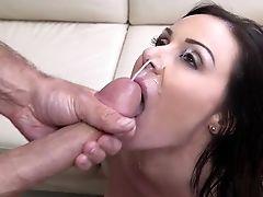 American, Big Tits, Brunette, Bukkake, Cum Swallowing, Cumshot, Facial, Fucking, Hardcore, Kendra Lust,