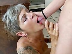 Ass, Aunt, Blowjob, Close Up, Cowgirl, Curly, Desk, Dress, Foreplay, Granny,