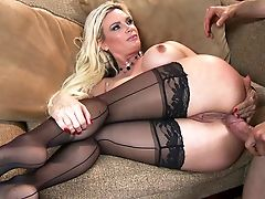 Anal Sex, Big Tits, Black, Blonde, Blowjob, Close Up, Diamond Foxxx, Hardcore, Huge Tits, Licking,
