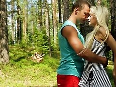Amateur, Babe, Blonde, Forest, From Behind, Girlfriend, Hardcore, Nature, Reality, Skinny,