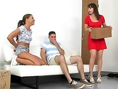 American, Couch, Dana Dearmond, Family, FFM, Girlfriend, Group Sex, MILF, Mom, Old And Young,