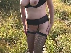 Amateur, Flashing, MILF, Nude, Outdoor, Public,