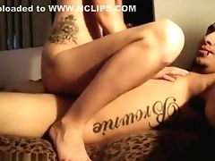 Boobless, Couple, Fucking, On Top, Tattoo, Teen,