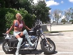 Babe, Biker, Jeans, Ladyboy, Nature, Outdoor, Sex Toys,