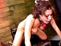 BDSM, Big Cock, Blowjob, Bondage, Brunette, Dildo, Dungeon, Fetish, Fucking, HD,