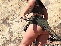 Ass, Big Ass, Boots, Ethnic, Latina, Legs, Luscious Lopez, MILF, Model, Outdoor,