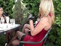 Barra Brass, Blonde, Brazilian, Celine Noiret, Fetish, Group Sex, Horny, Jessica Koks, Leony Aprill, Lingerie,