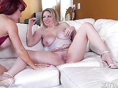 Big Tits, Cute, Fake Tits, Friend, Jerking, Lesbian, Long Hair, MILF, Nylon, Pornstar,