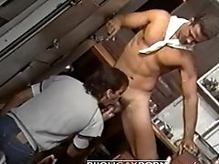 Anal Sex, Blowjob, Classic, Hunk, Kitchen, Muscular, Rimming, Threesome, Vintage,