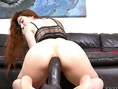 Anal Sex, Babe, Big Ass, Clamp, Dildo, Fingering, Huge Dildo, Long Hair, Masturbation, Moaning,