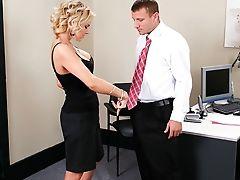 Blonde, Cute, Desk, Dick, Fingering, From Behind, Gigi La Porte, Mature, Mistress, Riding,