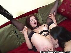 Big Ass, Big Tits, Cunnilingus, Dildo, Holly Kiss, Horny, Lesbian, Pornstar, Sex Toys, Stockings,