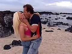 Beach, Big Tits, Blonde, Blowjob, Close Up, Cumshot, Cunt, Dick, Doggystyle, From Behind,