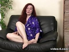 Anna Pierceson, Audition, Boobless, Hairy, Pornstar, Redhead, Softcore, Solo,