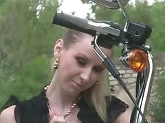 Amateur, Biker, Blonde, Cute, Homemade, Outdoor, Teen, Young,