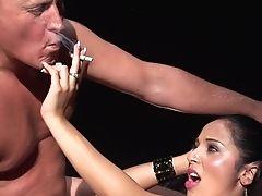 Big Tits, Blowjob, Cigarette, Cum On Tits, Cumshot, Dick, Fake Tits, HD, Lingerie, MILF,
