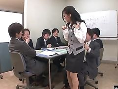 Couple, Gangbang, Hardcore, Japanese, Natural Tits, Nylon, Office, Pantyhose,