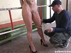 Balls, BDSM, Big Tits, Bondage, Brunette, Domination, Dungeon, Fake Tits, Gagging, HD,