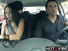 Car, Couple, Friend, Latina, Lesbian, Squirting,