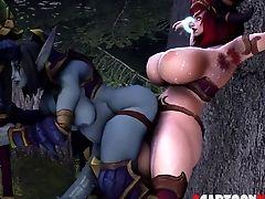 3d, Babe, Big Cock, Rough, Slut,