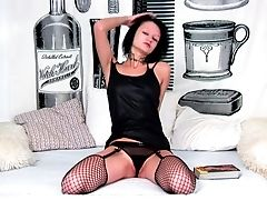 Black, Brunette, Legs, Masturbation, Solo, Spreading, Teen, Vibrator,