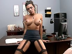 Brunette, Dirty Talk, From Behind, Hardcore, Office, Piercing, Pussy, Rachel Starr, Tall, Tanned,