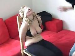BDSM, Blindfold, Blonde, Bondage, Whore, Wife,