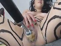 Babe, Fucking Machine, Horny, Webcam, Wet,