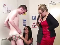 Amateur, Babe, British, CFNM, Femdom, Fetish, Horny, Office, Striptease,