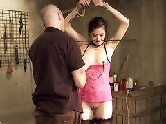 BDSM, Bondage, Brunette, Cum, Fetish, Stockings, Submissive,