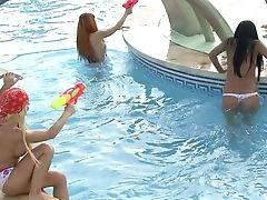 Bikini, Foursome, Group Sex, Hardcore, Outdoor, Party, Pool, Rough, Yoha,