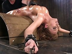 BDSM, Big Tits, Bold, Bondage, Britney Amber, Ginger, Moaning, Oiled, Perverted, Punishment,