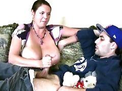 Babysitter, Big Natural Tits, Big Tits, Carrie Moon, Cumshot, Handjob, MILF,