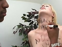 Big Black Cock, Blonde, Bonnie Heart, Choking Sex, Couple, Dirty, Interracial, Natural Tits,