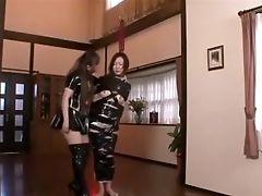 японки, лесбийская доминация,