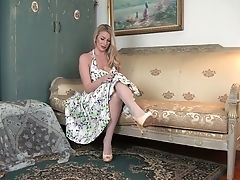Big Tits, Blonde, Cute, Danielle Maye, Dress, Fake Tits, Fingering, HD, Jerking, Lingerie,