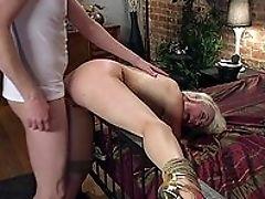 Anal Sex, Ass, Blonde, Blowjob, Bondage, Boobless, Close Up, Clothed Sex, Deepthroat, Doggystyle,