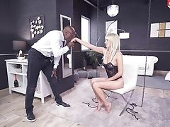 Anal Sex, Babe, Big Black Cock, Big Tits, Black, Blonde, Blowjob, Bodystocking, Couch, Domination,