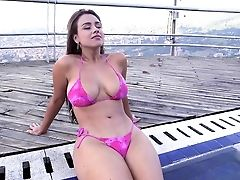Ass, Babe, Big Tits, Bikini, Colombian, Curvy, Latina, Outdoor, Posing, Reality,