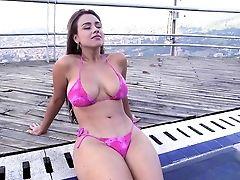 Bunda, Gata, Peitos Grandes, Biquini, Colombianas , Curvy, Latinas, Outdoor, Posando, Realidade ,