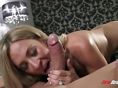 Couple, Dirty, Fake Tits, Gorgeous, Legs, Licking, MILF, Nylon, Pornstar, Spreading,