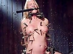 Balls, BDSM, Big Tits, Blonde, Clamp, Crying, Dildo, Forced Orgasm, Gagging, Helpless,