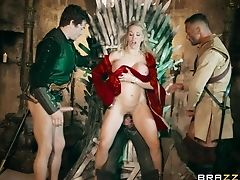 Blonde, Gangbang, Long Hair, MILF, Parody, Pornstar, Rebecca More,