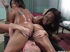 Adorable, Ass, Black, Fingering, Friend, Interracial, Kaylani Lei, Lesbian, Massage, Oral Sex,